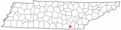 Location of Red Bank in the state of Tennessee