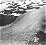 Taku Glacier, tidewater glacier and hanging glaciers on the mountainsides, September 1, 1977 (GLACIERS 6234).jpg