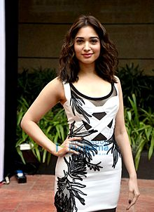 Tamannaah at the first look launch of 'Bahubali 2 The Conclusion' at MAMI 18th Mumbai Film Festival.jpg