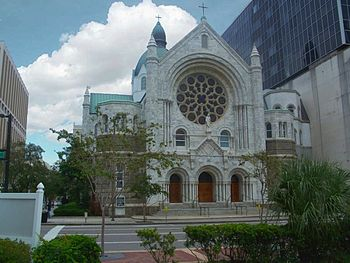 Sacred Heart Church, in downtown Tampa, Florida