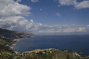 Taormina - View of the Taormina coast.