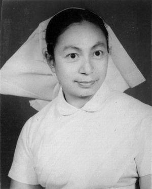 Tara Devi Tuladhar - Tara Devi as a nurse in 1961.