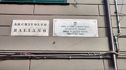 Photo of Giovanni Battista Baliani marble plaque