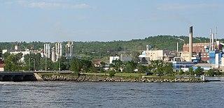 Témiscaming City in Quebec, Canada