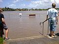 Teneriffe Teneriffe Wharves Boardwalk Flood 2011.jpg