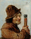 Teniers, David the younger - A Peasant holding a Glass - Google Art Project.jpg