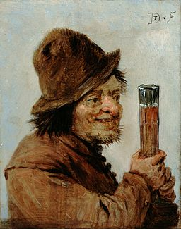 Teniers, David the younger - A Peasant holding a Glass - Google Art Project