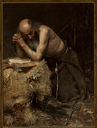 "Anchorite - ""The Anchorite"" by Teodor Axentowicz."