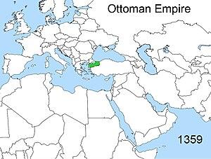 Territorial evolution of the Ottoman Empire - Territorial changes of the Ottoman Empire 1359