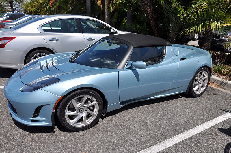 File:Tesla Roadster at Mote Marine Laboratory.jpg