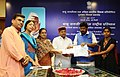 """Thaawar Chand Gehlot distributing the prize to the winner of the """"Babu Jagjivan Ram All India Essay Competition 2016"""", at a function, in New Delhi (3).jpg"""