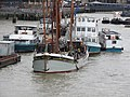 Thames barge parade - in the Pool - Will berthing 6713.JPG