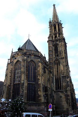 St Theobald's Church, Thann - Image: Thann Collégiale Saint Thiébaut 01