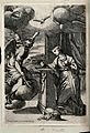 The Annunciation to the Virgin; the Virgin kneels at a prie- Wellcome V0048898.jpg