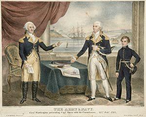 John Barry (naval officer) - Barry receiving commodore commission from Washington