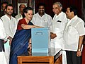 The Chairperson, National Advisory Council, Smt. Sonia Gandhi casting her vote in the Vice Presidential election at Parliament House, in New Delhi on August 07, 2012.jpg