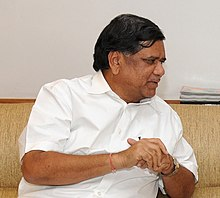 The Chief Minister of Karnataka, Shri Jagadish Shettar meeting the Union Minister for Road Transport and Highways, Dr. C.P. Joshi, in New Delhi on August 17, 2012 (cropped).jpg