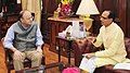 The Chief Minister of Madhya Pradesh, Shri Shivraj Singh Chouhan calling on the Union Minister for Finance, Corporate Affairs and Defence, Shri Arun Jaitley, in New Delhi on May 17, 2017.jpg