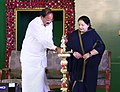 The Chief Minister of Tamil Nadu, Ms. J. Jayalalithaa and the Union Minister for Urban Development, Housing & Urban Poverty Alleviation and Information & Broadcasting, Shri M. Venkaiah Naidu.jpg