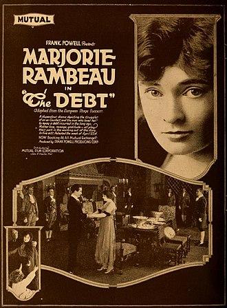 Marjorie Rambeau - The Debt – 1917