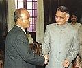 The Director General of Bangladesh Rifles (BDR) Major General Md Jahangir Alam Chowdhury meets the Union Home Minister Shri Shivraj Patil in New Delhi on September 28, 2004.jpg
