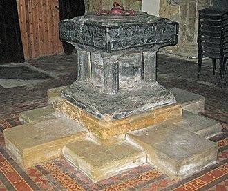 Tournai font - St Lawrence's, Thornton Curtis, Lincolshire