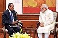 The Governor of Andhra Pradesh and Telangana, Shri E.S.L. Narasimhan calls on the Prime Minister, Shri Narendra Modi, in New Delhi on June 11, 2015.jpg