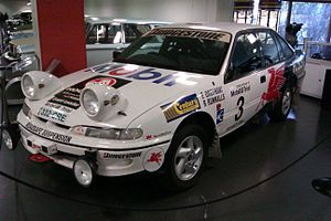 Round Australia Trial - The Holden VR Commodore in which Ed Ordynski and Ross Runnalls won the 1995 Mobil 1 Trial