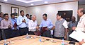 The IWAI signed the MoUs with Dredging Corporation of India, Paradip Port Trust and Mormugao Port Trust, in the presence of the Union Minister for Road Transport & Highways and Shipping, Shri Nitin Gadkari, in New Delhi.jpg