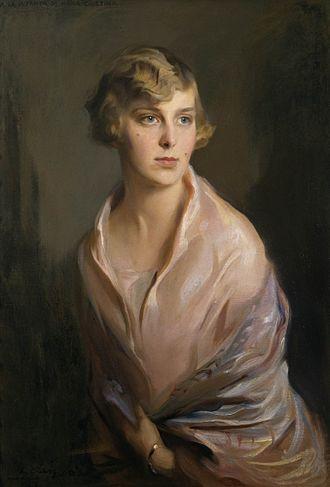 Infanta María Cristina of Spain - Portrait by Philip de László, 1927