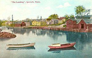 """English: """"The Landing,"""" Ipswich, MA;..."""