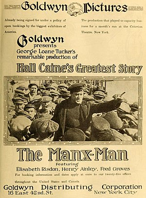 The Manxman (1916 film) - U.S. theatrical release poster