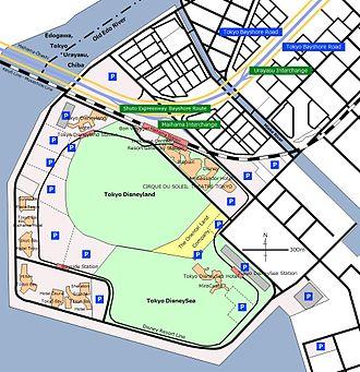 Tokyo Disney Resort - The map of Tokyo Disney Resort