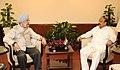 The Minister for Infrastructure, Urban Development, Information and Haj, Karnataka, Shri R. Roshan Baig meeting the Minister of State for Housing and Urban Affairs (IC), Shri Hardeep Singh Puri, in New Delhi (1).jpg