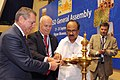 The Minister of State (Independent Charge) for Consumer Affairs, Food and Public Distribution, Professor K.V. Thomas lighting the lamp to inaugurate the 34th General Assembly of International Organization for Standardization.jpg