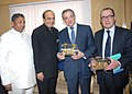 The Minister of Transport, Ministry of Ecology, Sustainable Development, Transport and Housing, France, Mr. Thierry Mariani along with his delegation meeting the Minister for Railways, Government of India.jpg
