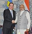 The Prime Minister, Shri Narendra Modi holding bilateral talks with the Prime Minister of Sweden, Mr. Stefan Lofven, at the Make in India Centre, in Mumbai on February 13, 2016 (1).jpg