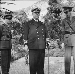Frederick Edward-Collins - Edward-Collins as Flag Officer Commanding Gibraltar and Mediterranean Approaches