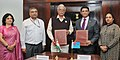 The Union Minister for Civil Aviation, Shri Ashok Gajapathi Raju Pusapati and the Attorney General of Fiji, Mr. Aiyaz Sayed-Khaiyum signed the Air Services Agreement between India and Fiji, in New Delhi on March 08, 2017.jpg