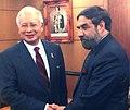The Union Minister for Commerce and Industry, Shri Anand Sharma meeting the Prime Minister of Malaysia, Dato' Sri Mohd Najib bin Tun Abdul Razak, at Kuala Lumpur on July 07, 2010.jpg