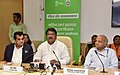 The Union Minister for Tribal Affairs, Shri Jual Oram addressing at the inauguration of the NITI Aayog's Conference on Empowerment of Women SHGs & Organic Farmers Co-operatives from Dantewada, Bastar Region, in New Delhi.JPG