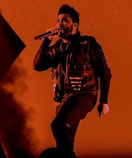 The Weeknd Canadian singer, songwriter and record producer