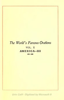 The World's Famous Orations Volume 10.djvu