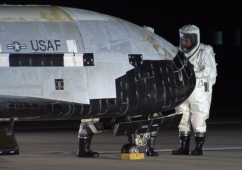 File:The X-37B OTV is inspected after landing at Vandenberg Air Force Base, California.jpg
