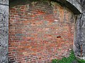 The door closed with red bricks in Remains of Taipei Prison Wall 20161105.jpg