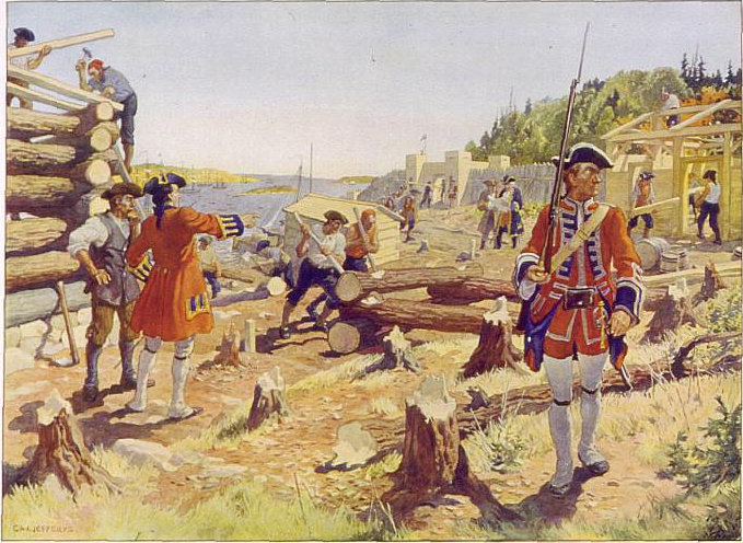 The founding of Halifax, 1749. by Charles W. Jefferys