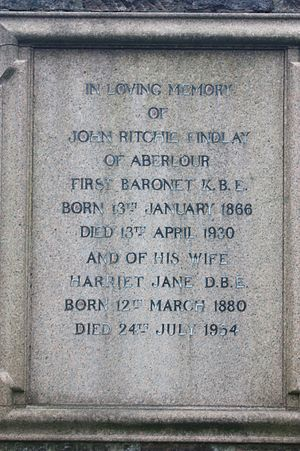 Sir John Ritchie Findlay, 1st Baronet - The grave of John Ritchie Findlay, Dean Cemetery