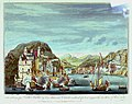The taking of Porto Bello by Vice Admiral Vernon on the 22d of Nov. 1739 with Six Men of War only PW4572.jpg