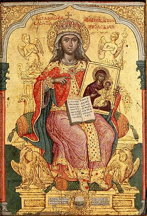 Greek art - St Theodora icon by Emmanuel Tzanes, an example of the Cretan School