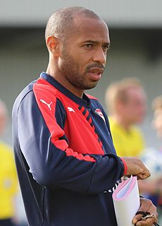 Thierry Henry French association football player and manager
